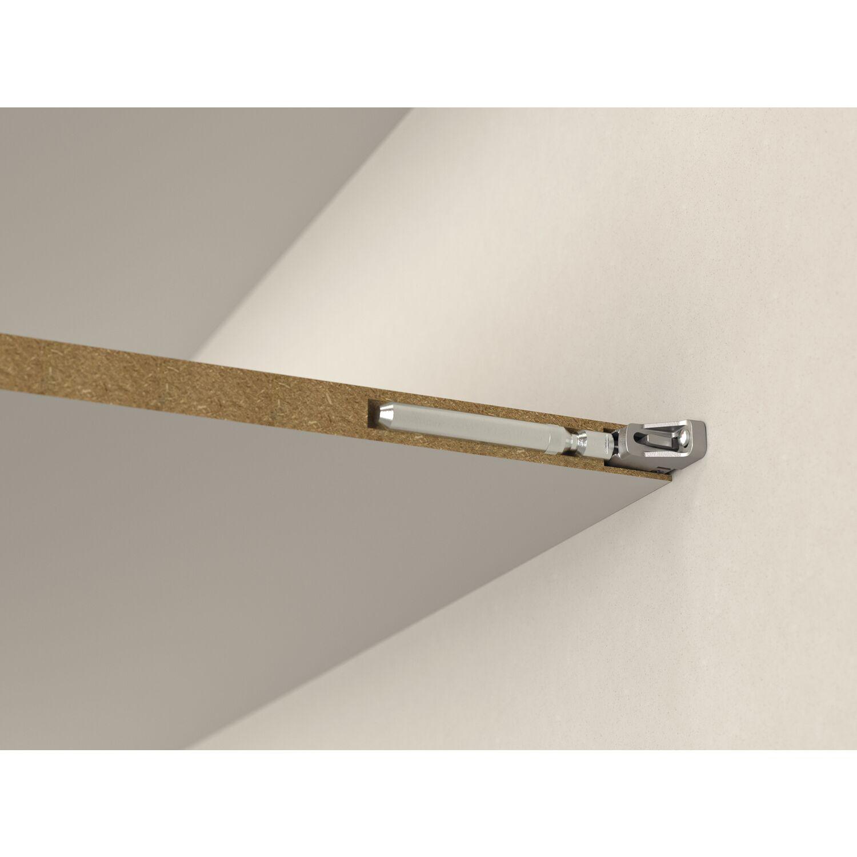 Tablarstärke 30 mm Bohrtiefe 150 mm Zinkdruckguss Tablarträger Triade