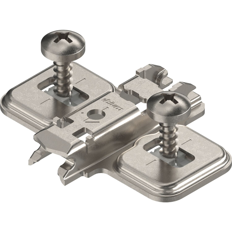 Stahl 0 mm Spax-Schrauben Blum CLIP Montageplatte kreuz HV: Langloch