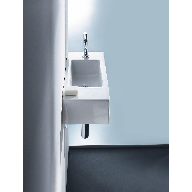 duravit vero handwaschbecken wei hahnloch links. Black Bedroom Furniture Sets. Home Design Ideas