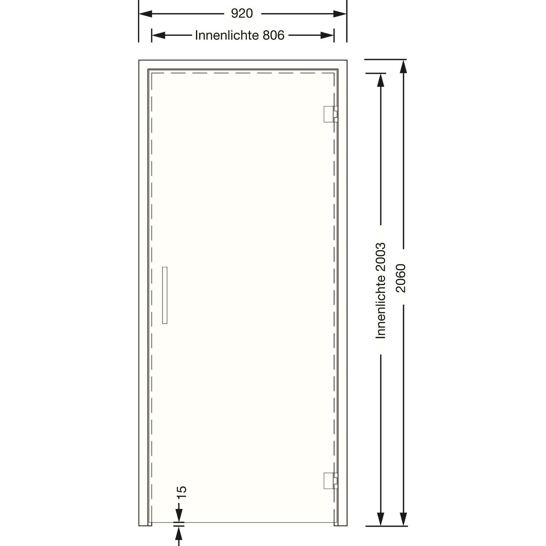 Saunatür Glas saunatür gewerblich ohne schwelle 8mm esg holzrahmen fichte