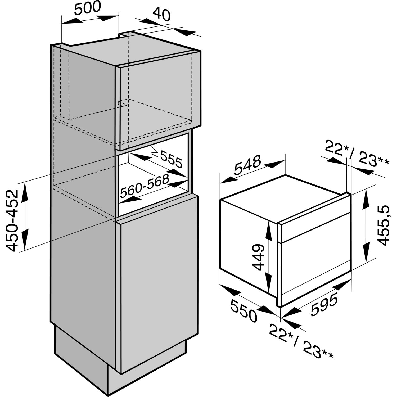 miele einbau dampfgarer mit backofenfunktion dgc 6805. Black Bedroom Furniture Sets. Home Design Ideas