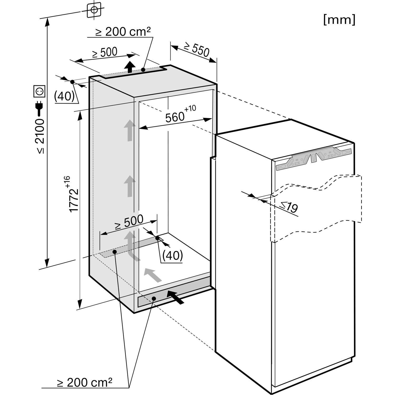 miele k hl gefrierkombination k 37682 idf nischenh he. Black Bedroom Furniture Sets. Home Design Ideas