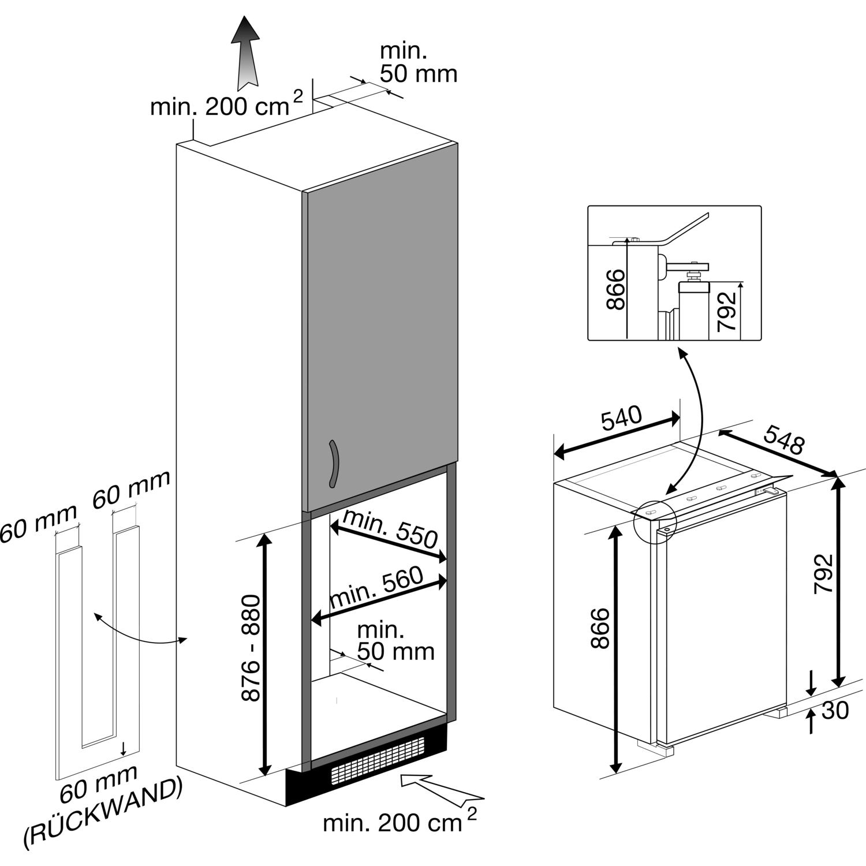 teka einbau k hlschrank tki3 130 mit gefrierfach integrierbar. Black Bedroom Furniture Sets. Home Design Ideas