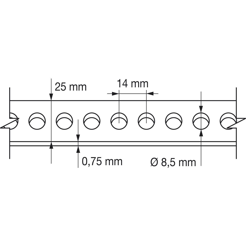 lochband 25mm verzinkt 10 meter auf einer rolle in plastikbox. Black Bedroom Furniture Sets. Home Design Ideas