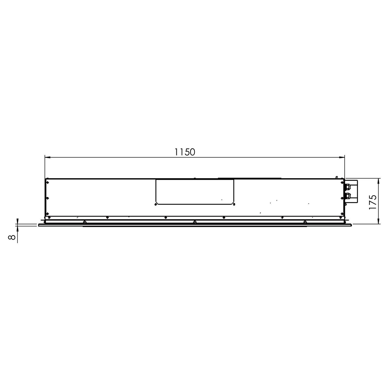 Gutmann Decken Dunstabzugshaube Sombra Ii 68 Em B 120 X 70 Cm Weissglas