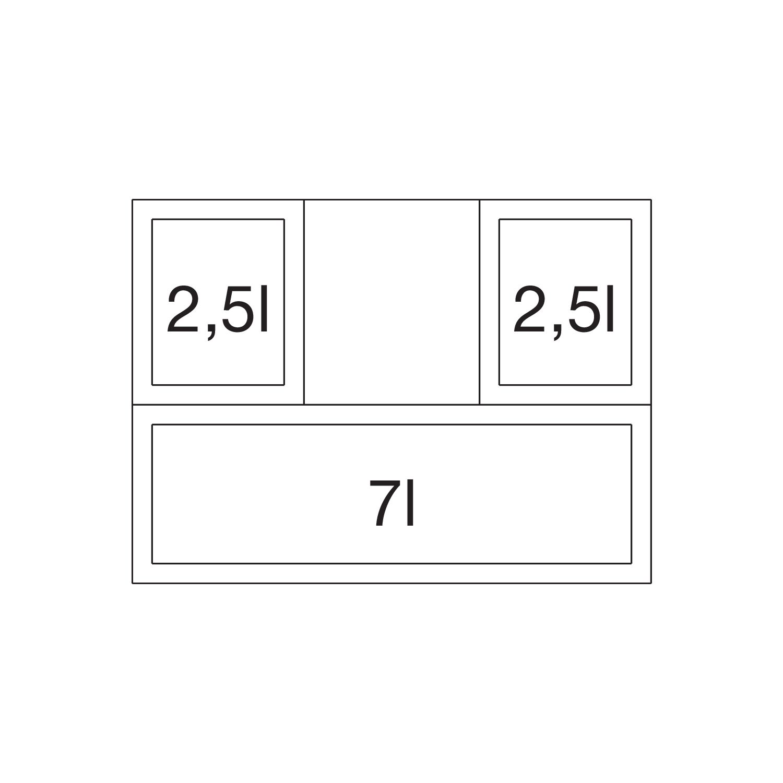 blanco abfallsammler select 60 3 orga kb 600mm 3x15 l beh lter. Black Bedroom Furniture Sets. Home Design Ideas
