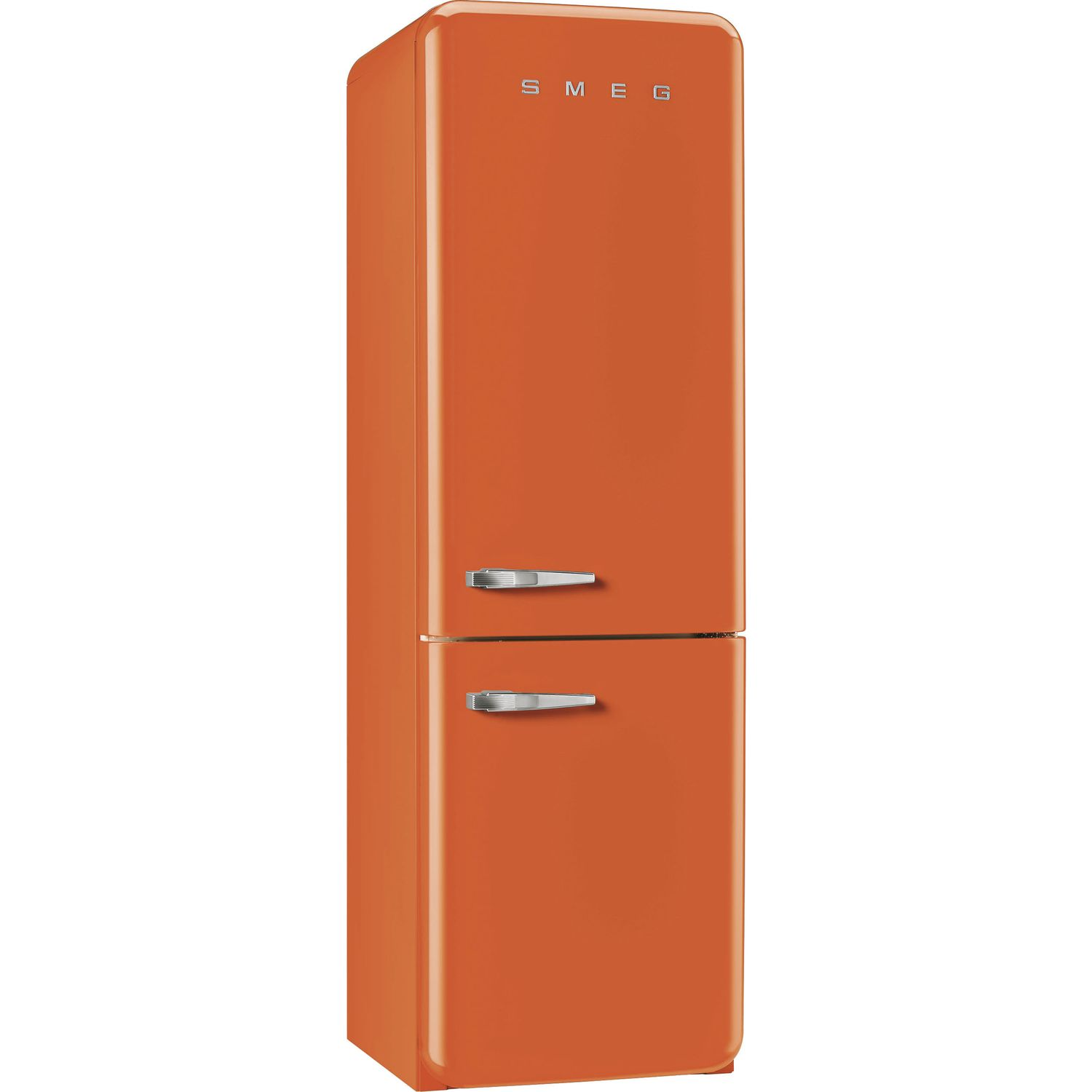 smeg stand k hl gefrierkombination fab32ron1 nofrost a orange ta rechts. Black Bedroom Furniture Sets. Home Design Ideas