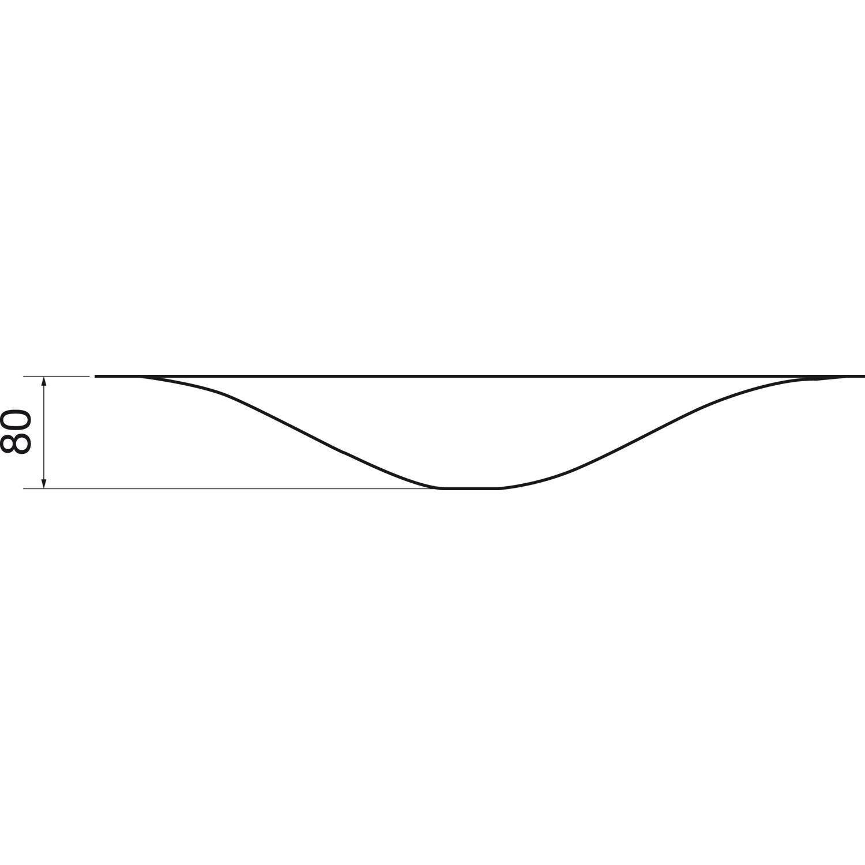 SOLIDO 3D Waschbecken Wave Edelstahl Innenseite matt poliert
