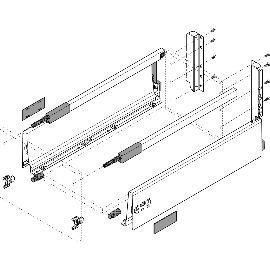 30kg BLUM TANDEMBOX antaro SET C-Reling Seidenweiss NL 550 TIP-ON BLUMOTION