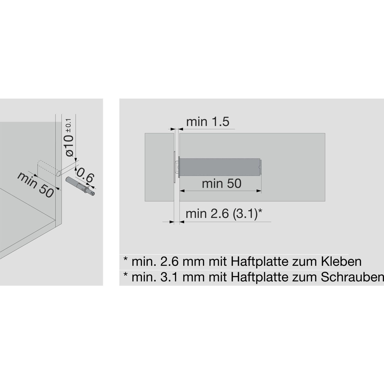 blum tip on f r t ren kurzversion mit magnet grau. Black Bedroom Furniture Sets. Home Design Ideas