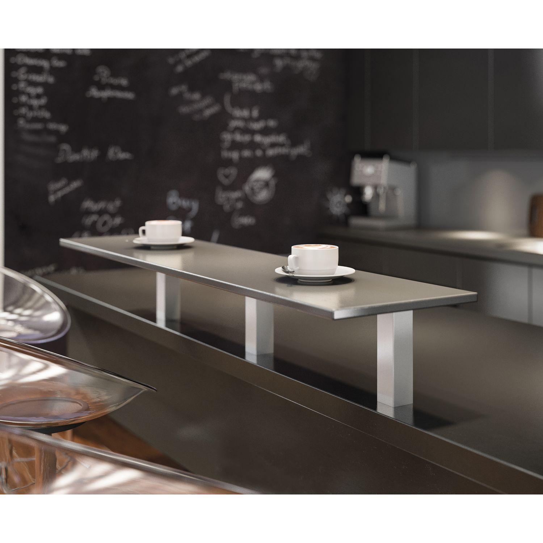 barkonsole capri gerade 50 x 50 mm h he 230 mm aluminium natur eloxiert. Black Bedroom Furniture Sets. Home Design Ideas