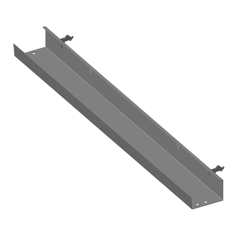 kabelkanal beta für tischbreite 2000 mm, stahl weißaluminium ral