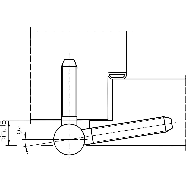 einbohrband 3 tlg baka c 1 20 wf mit stiftsicherung 20. Black Bedroom Furniture Sets. Home Design Ideas