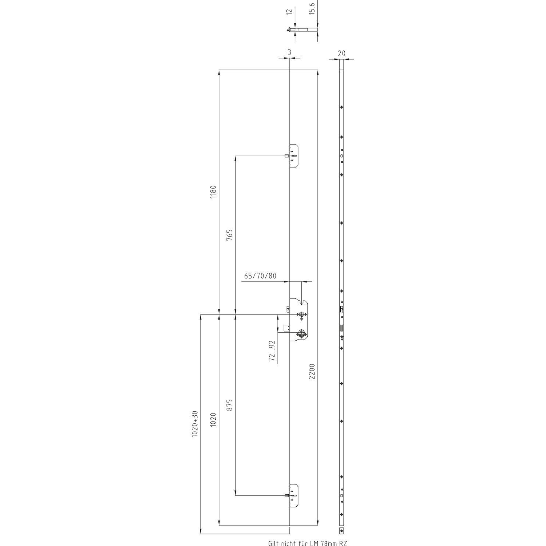 mfv schloss 124 mf4 dm 80 stulp 1850 x 20 x 3 mm rund. Black Bedroom Furniture Sets. Home Design Ideas
