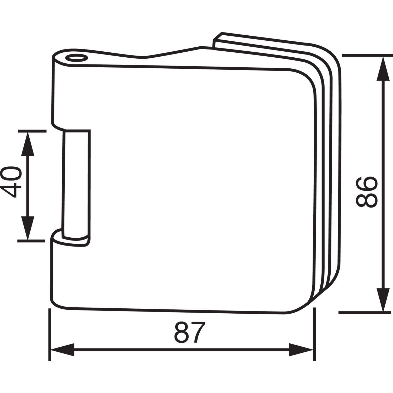 Türband Flügelteil DORMA Junior fice 11 230 38 5 Glas 8 10 mm
