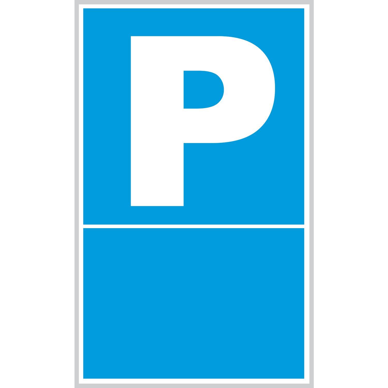 Parkschild 150 x 250 mm, Symbol Parkplatz + Leerraum, Kunststoff ...