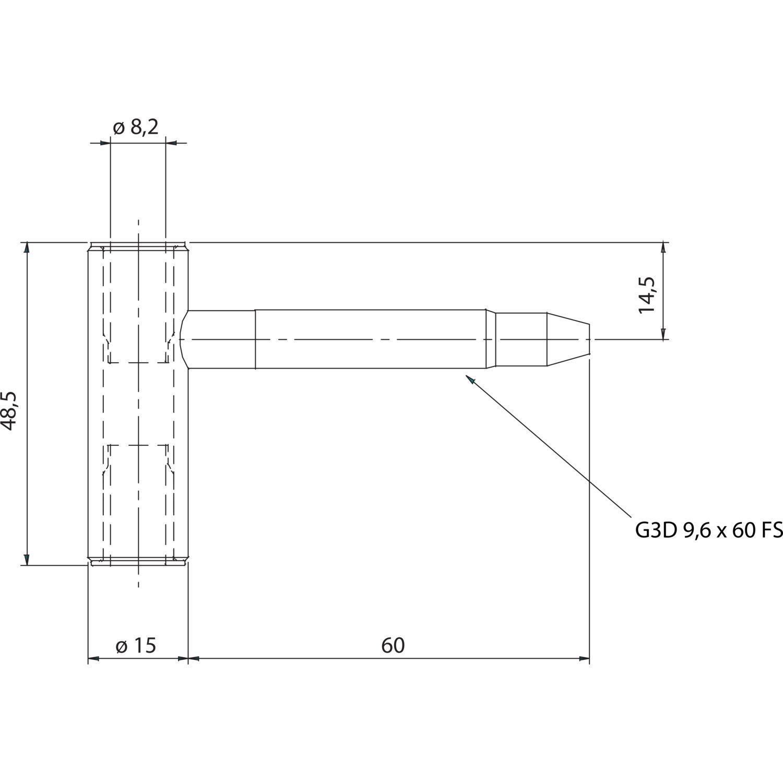 t rband rahmenteil sch 27 holz bandh he 48 5 mm stahl. Black Bedroom Furniture Sets. Home Design Ideas