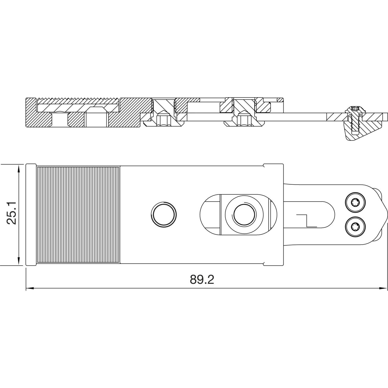 feststelleinheit f r nachr stkit ts 5000 ecline ism silber. Black Bedroom Furniture Sets. Home Design Ideas