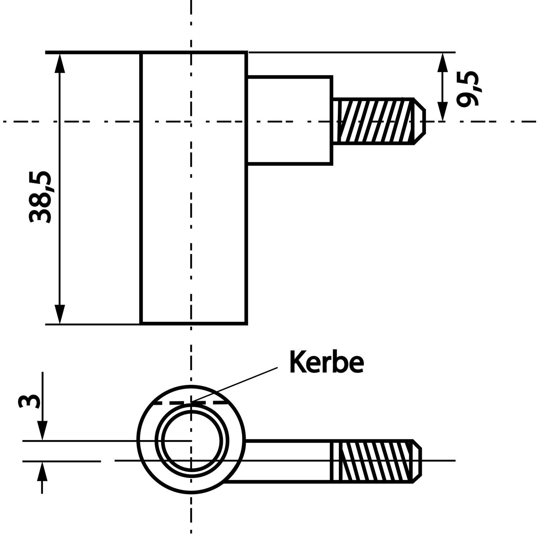 t rband rahmenteil incanto 3 tlg gekr pft links bandh 38. Black Bedroom Furniture Sets. Home Design Ideas