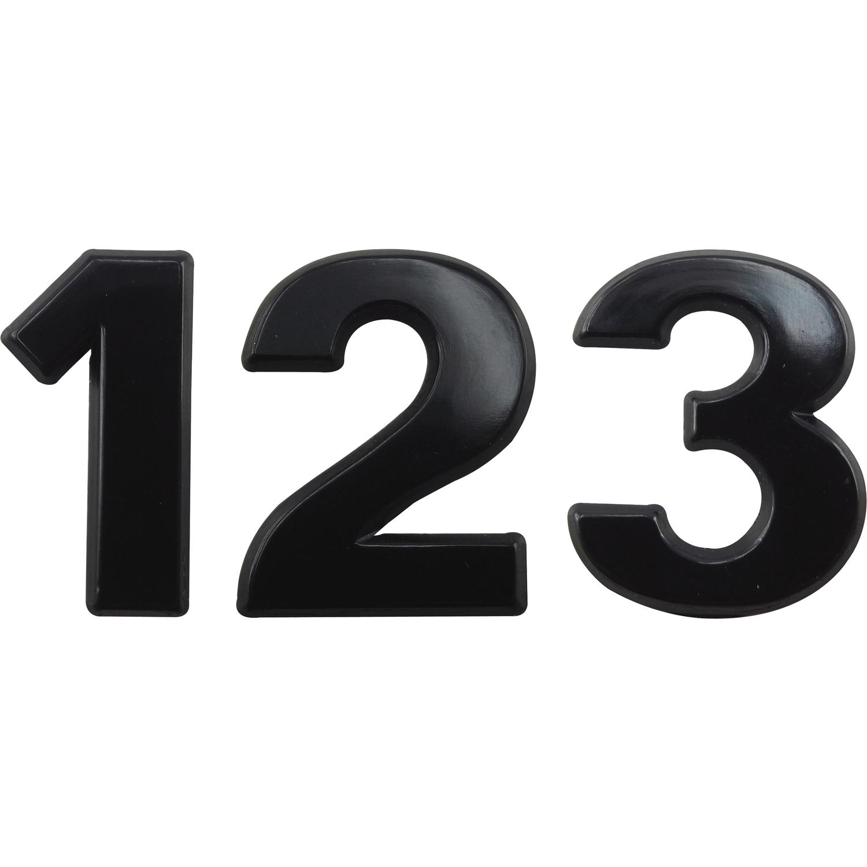 ziffer selbstklebend type 1 h he 30 mm aluminium schwarz eloxiert. Black Bedroom Furniture Sets. Home Design Ideas