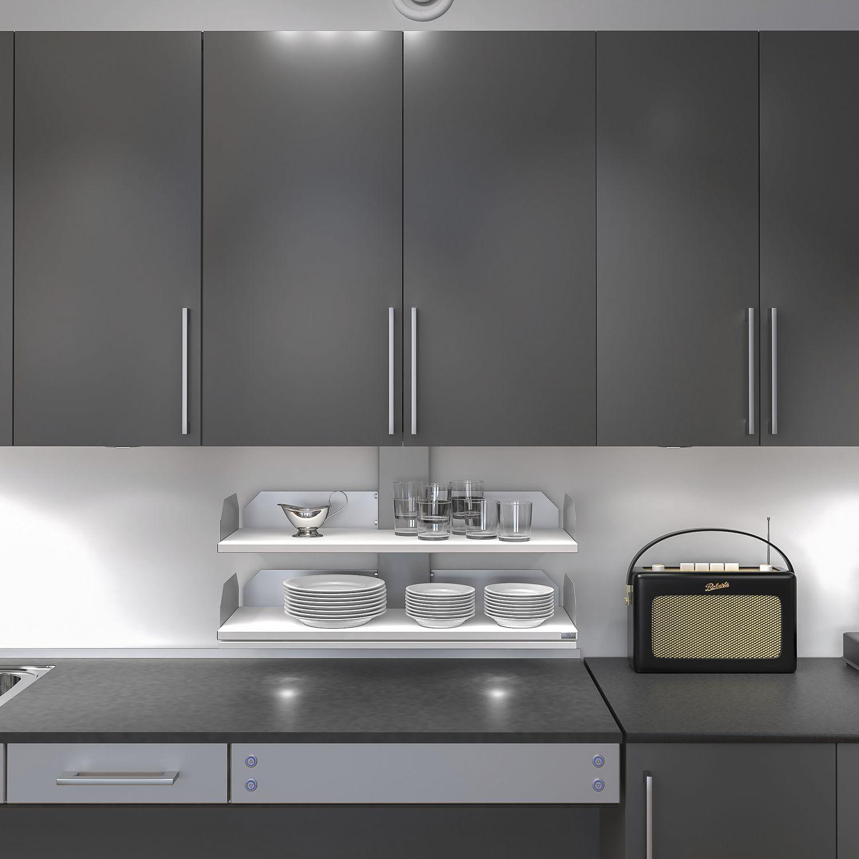 granberg verti 831 vertikal verfahrbarer schrankeinsatz inkl taster kb600 wei. Black Bedroom Furniture Sets. Home Design Ideas