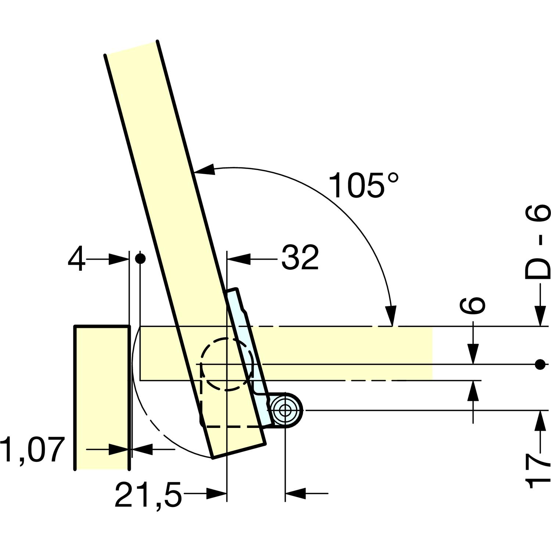 Standardanwendung; D = Deckelstärke