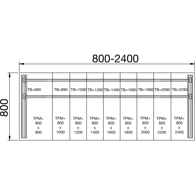 712mm; T:750mm; RAL 7016 Fuß; H C 3000 Tischgestell rechtes Seitenteil C