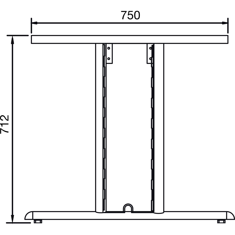 C 3000 Tischgestell rechtes Seitenteil C 712mm; T:750mm; RAL 7016 Fuß; H