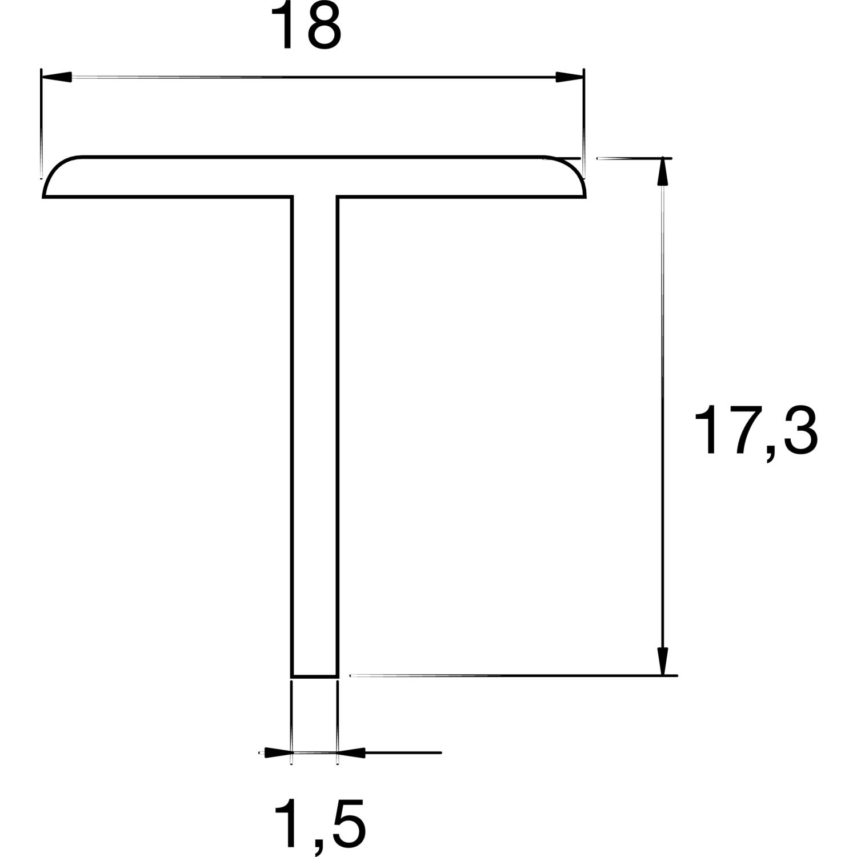 salu s60n p n li ta t profil 6000 mm. Black Bedroom Furniture Sets. Home Design Ideas