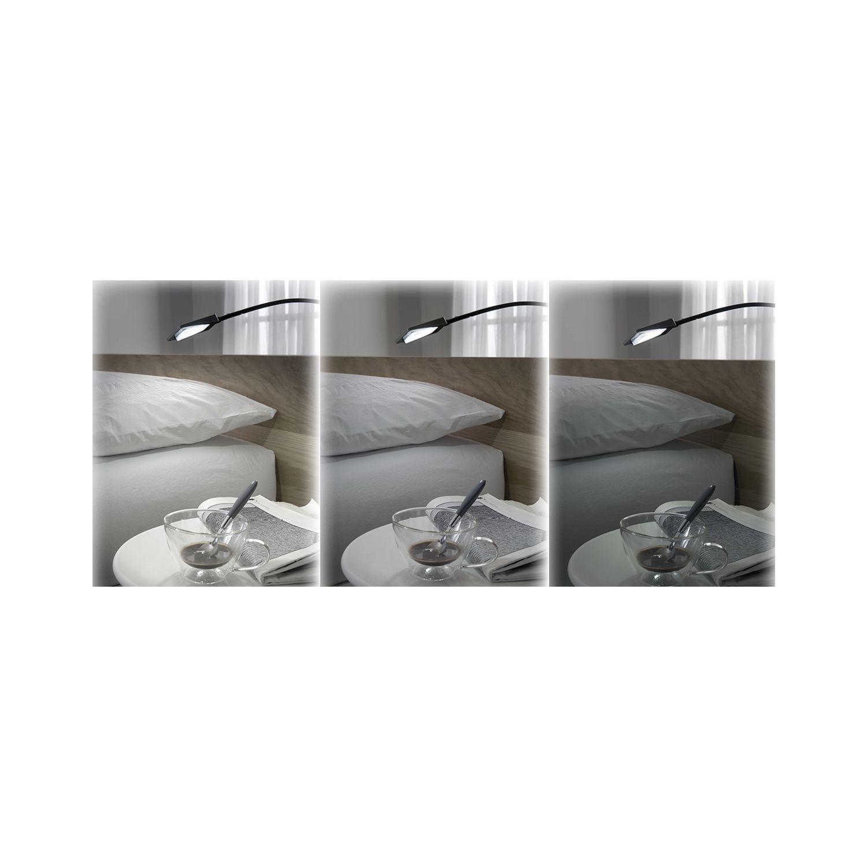 Lampada per testata letto Area Light dimmerabile, nero, 1,4 W, 12 V/DC