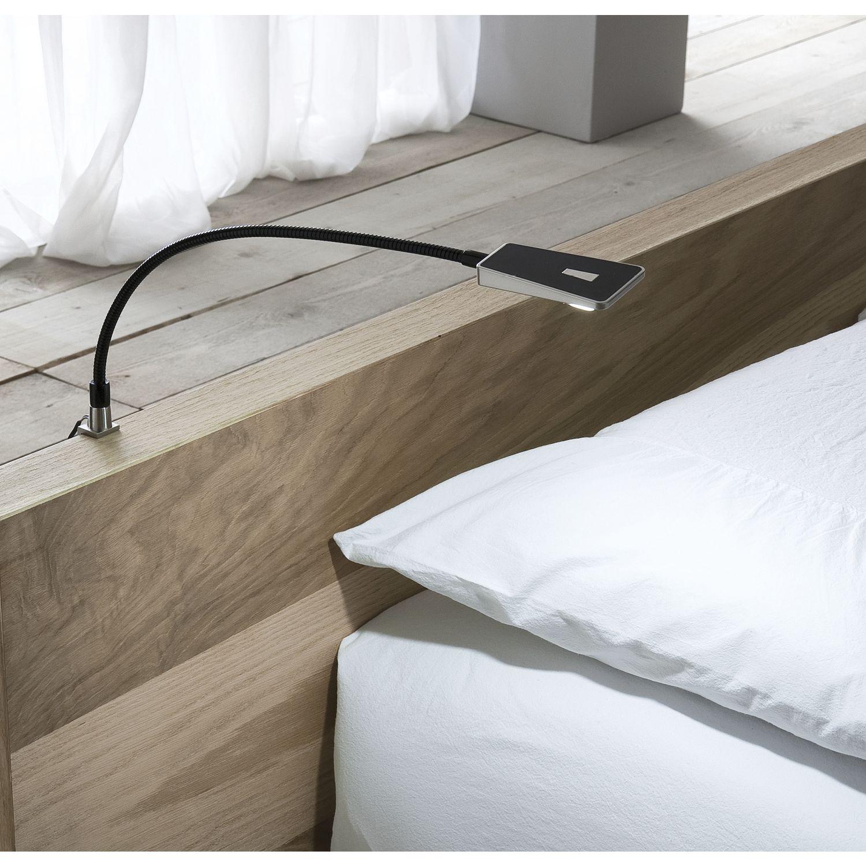 lampada per testata letto area light dimmerabile nero 1