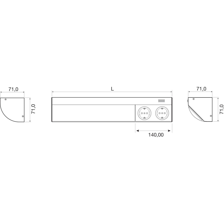 DV005-skiz_Corner_Compact_DSD_LED_alle_0 Erstaunlich Unterbauleuchte Led Mit Steckdose Dekorationen