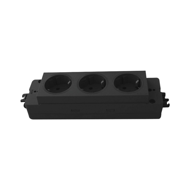 Verbindungsleitung mit Stecker und Gerätekupplung GST18 schwarz 1000 mm