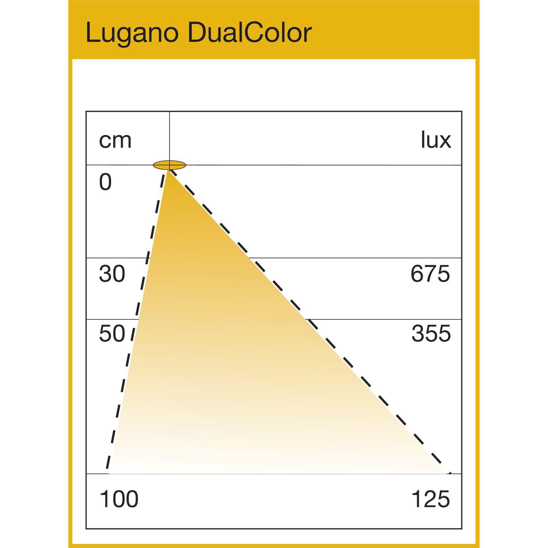 Leuchte Lugano DualColor 3000K/4000K 6,5W 600mm, Aluminium eloxiert