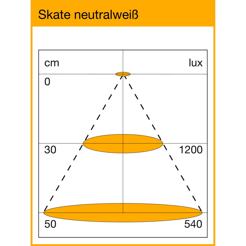 LED Leuchte Skate 1,6W 12 V/DC, neutralweiß, edelst., 3er Set inkl ...