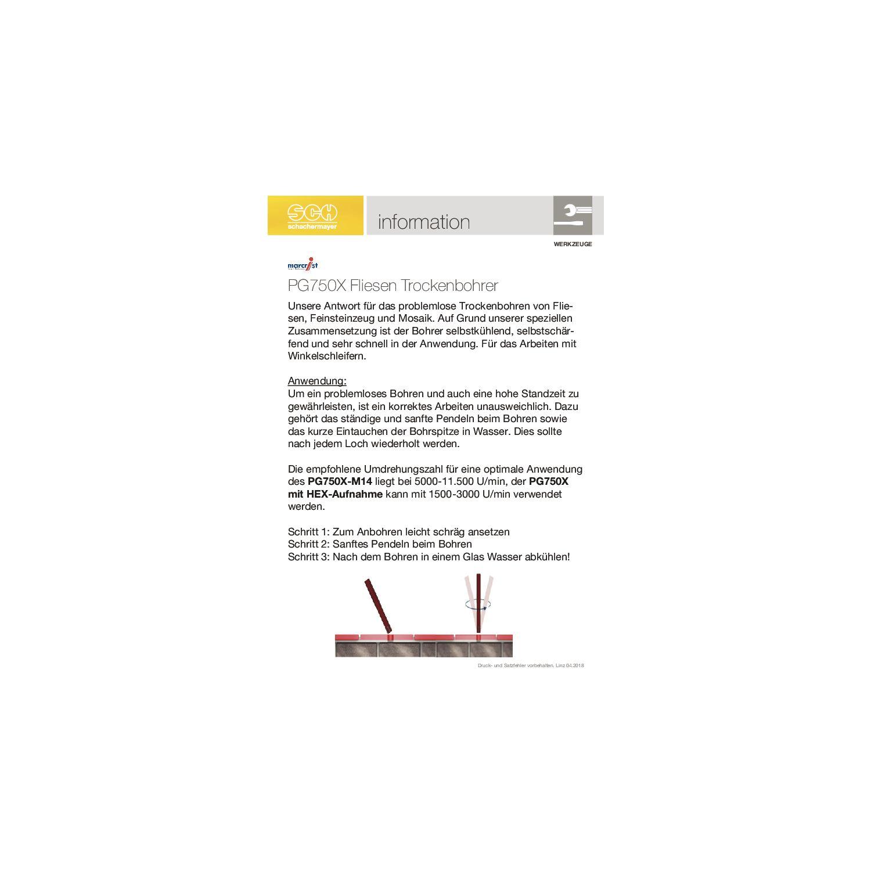 marcrist diamant fliesen trockenbohrer pg750x 26 mm. Black Bedroom Furniture Sets. Home Design Ideas