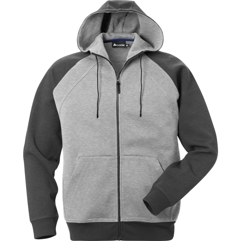 ACODE Herren Sweatshirt Jacke mit Kapuze Fb. weinrotgrau Gr