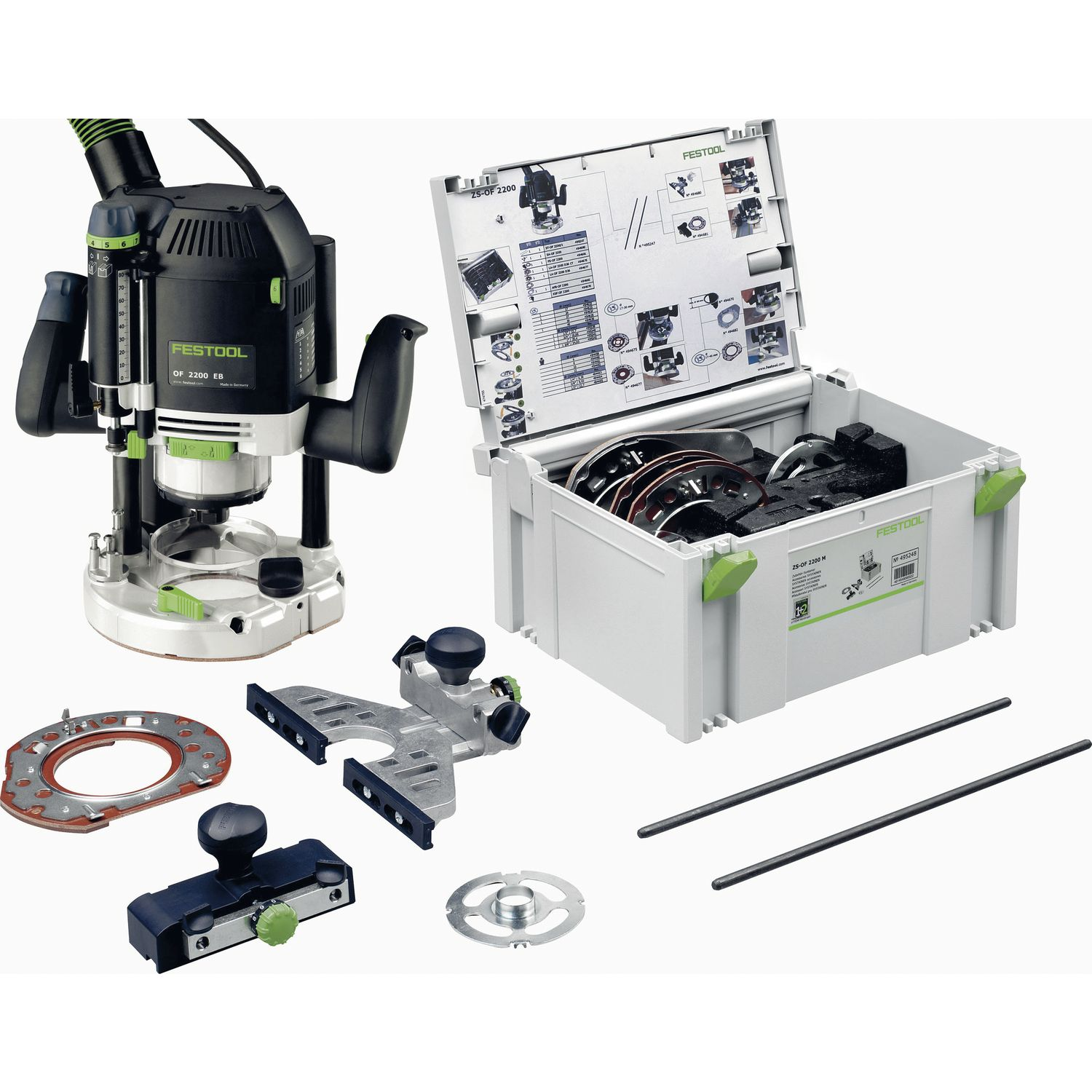 festool handoberfr se of 2200 eb set 2200 watt zubeh r systainer. Black Bedroom Furniture Sets. Home Design Ideas