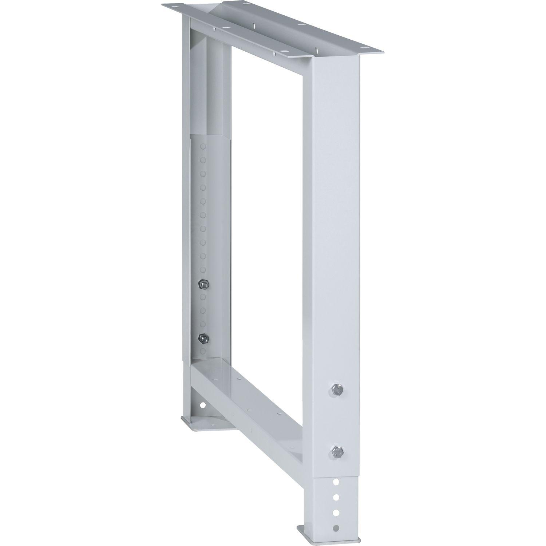 LISTA Werkbankfuß verstellbar 700-1050 mm RAL 7035 lichtgrau