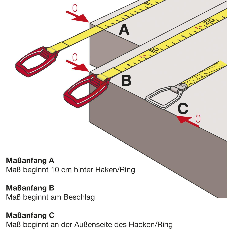 RICHTER Rahmen Stahlmaßband Metri 50 m weißlackiert Anfang A ...
