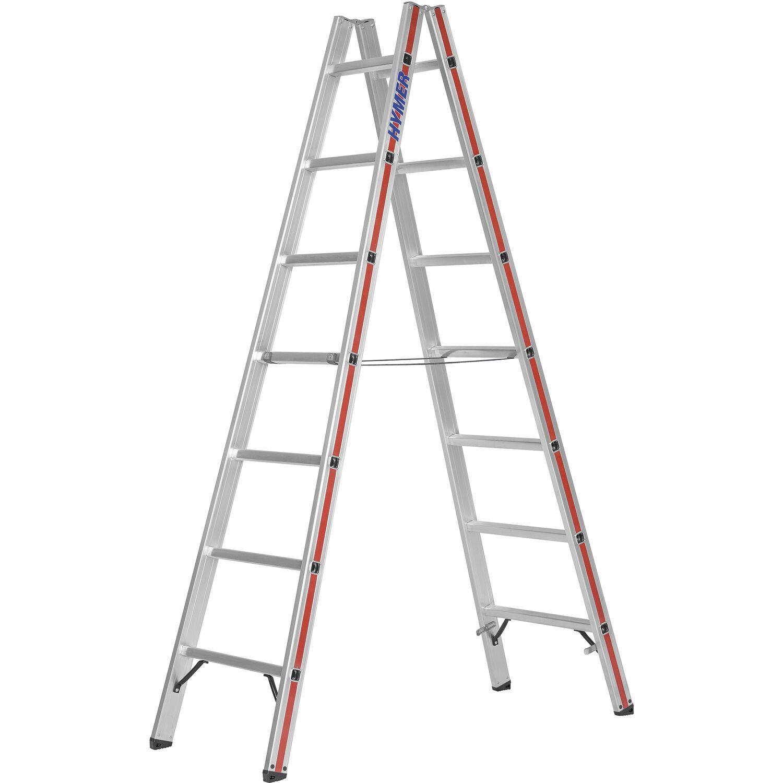 Alu-Sprossenstehleiter 2x7 Sprossen