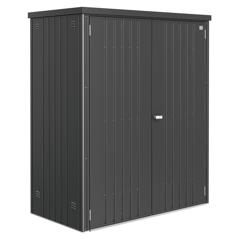 biohort ger teschrank 1550 830 1825 mm dunkelgrau metall. Black Bedroom Furniture Sets. Home Design Ideas