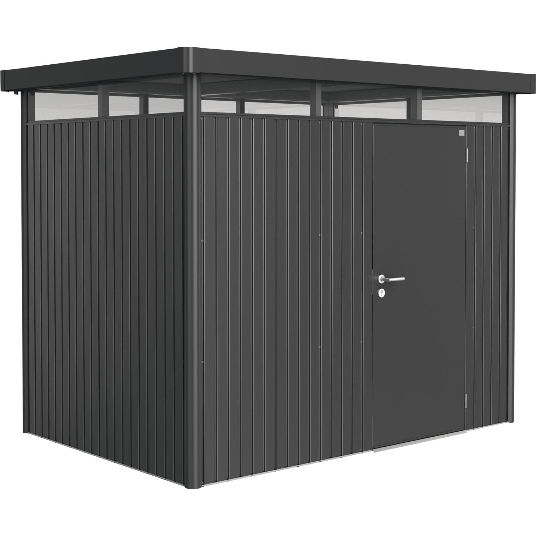 biohort ger tehaus highline gr h2 2750 1950 2220 mm dunkelgrau metallic 1 t rig. Black Bedroom Furniture Sets. Home Design Ideas