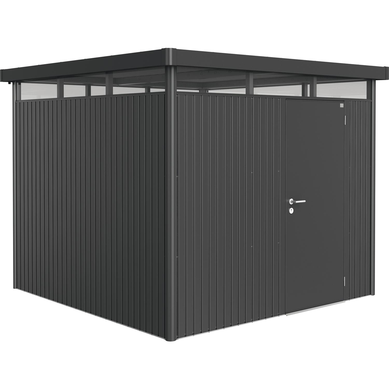 biohort ger tehaus highline gr h4 2750 2750 2220 mm dunkelgrau metallic 1 t rig. Black Bedroom Furniture Sets. Home Design Ideas