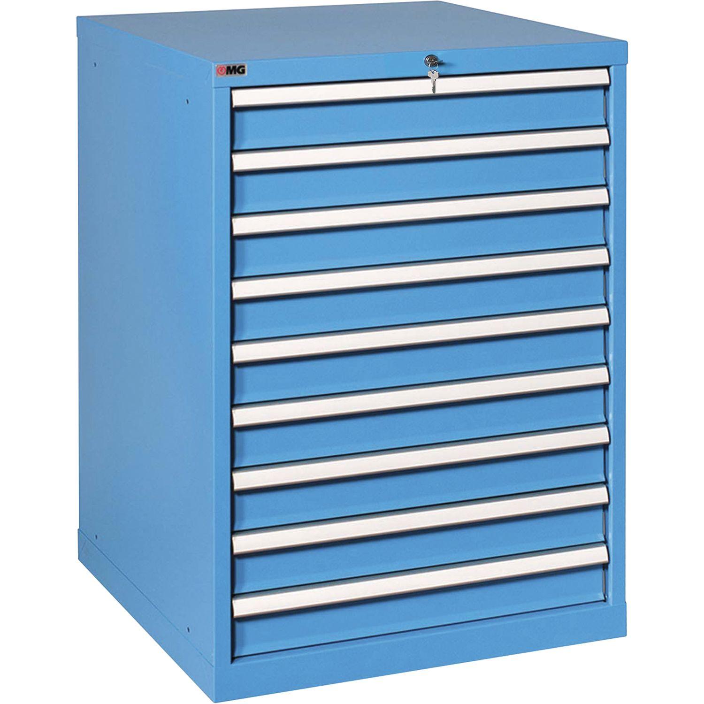 Schubladenschrank RX10092 1000x717x640 mm Schubladen 9 RAL5015 blau