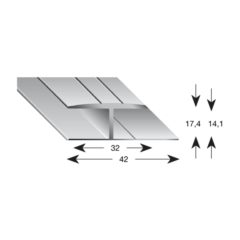 gleitabschlussprofil h alu silber eloxiert 14 2700 mm. Black Bedroom Furniture Sets. Home Design Ideas