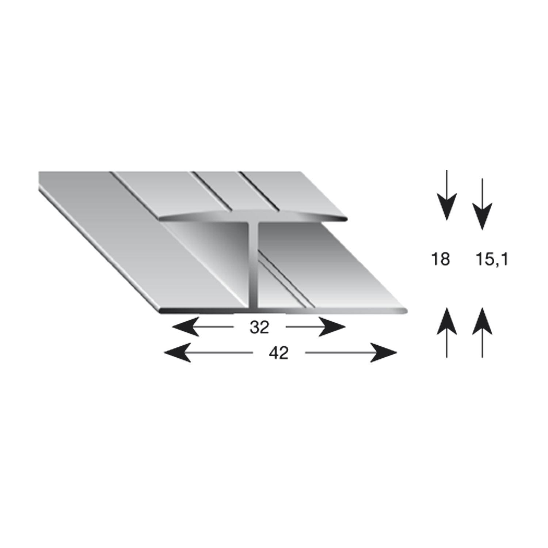 Großartig Gleitabschlussprofil H Alu sand eloxiert 15/900 mm ZN33