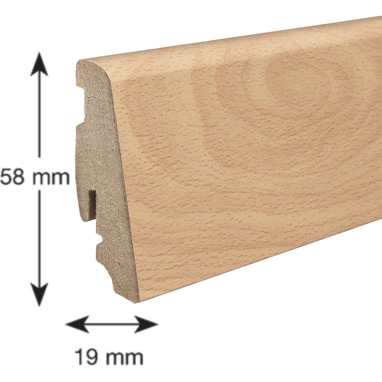 haro laminat sockelleiste 19 58 buche beige. Black Bedroom Furniture Sets. Home Design Ideas
