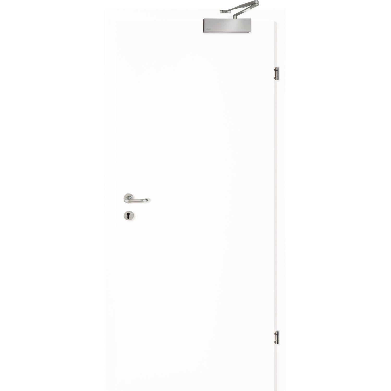 SOLIDO Smart Wohnungseingangstüre Feuerschutz EI2 30C, Weiß Lack. RE  850/2030 Mm