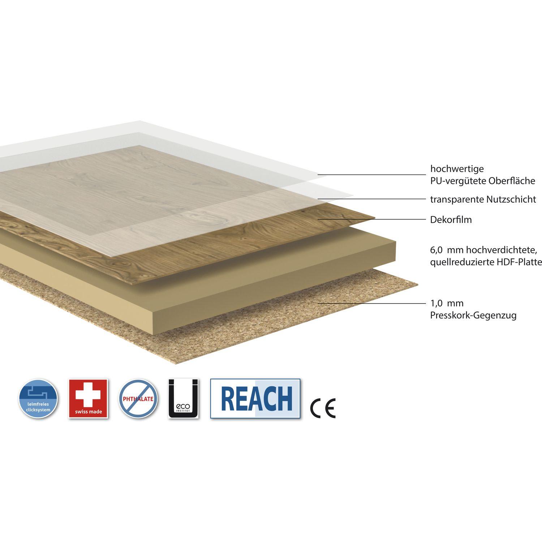 vinylboden fashion line hdf tr ger eiche trentino 8 5 mm. Black Bedroom Furniture Sets. Home Design Ideas